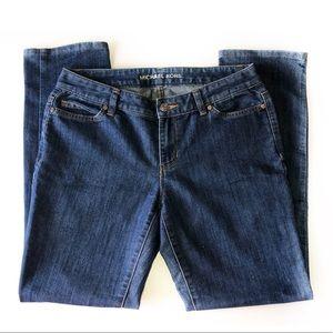 MICHAEL KORS SIZE 4 BLUE SKINNY LEG LOW RISE JEANS